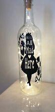 Light Up Bottle Alice In Wonderland Were All Mad Here Disney Gift Box Birthday