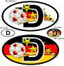 4 Nationalitätenkennzeichen Fußball Deutschland Weltm Sticker Auto SUV Van Truck