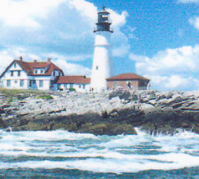 Portland Head Lighthouse magnet bookmark, hand made
