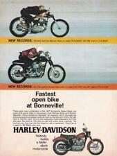 1968 Harley-Davidson Sportster Ad/Bonneville/ Warner Riley/Robert Mauriello