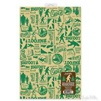 ALL OCCASION BIGFOOT GIFT WRAP 2 Sheets 20'' x 30'' Wrapping Paper Christmas Gag