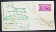 Us Constitution cachet Envelope washington sesquicentennial 1938 usa lettre y-350