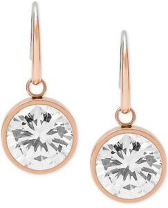 "Michael KorsWomen Brilliance Crystal Rose Gold tone 1"" Drop Earrings #13"