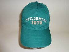 TAYLOR MADE GOLF CAP HAT ADJUSTABLE BUCKLE BACK 100% COTTON GREEN