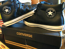 Converse All Star shoes CT Street Black Leather mid Men's 10 new with box