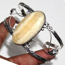 Yellow Lace 925 Sterling Silver Plated Adjustable Bangle GW