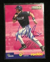 PHIL NEVIN 1995 UPPER DECK ROOKIE AUTOGRAPHED SIGNED AUTO BASEBALL CARD 9 ASTROS