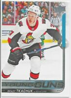 2018-19 Upper Deck #499 Brady Tkachuk YOUNG GUNS Rookie > Ottawa Senators