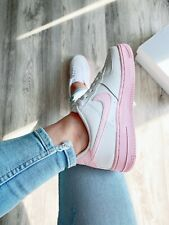 Nike air force 1 low white / pink youth size 5.5 women size 7