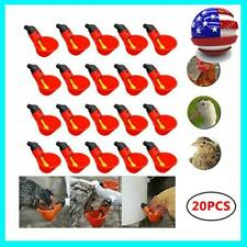 20-pcs Poultry Water Drinking Cups Waterer Chicken Hen Plastic Automatic Drinker