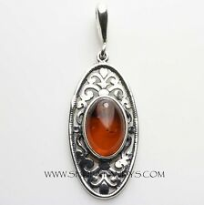 CLASSIC BALTIC AMBER 925 STERLING SILVER PENDANT