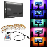 USB LED Strip Light TV Backlight 5050 RGB Mood Light Color Changing 5V Lamp SETs