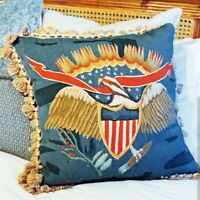 Amazing Vintage Gerry Nichol Needlepoint Tapestry Pillow