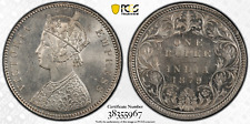 British India 1879-C Rupee PCGS MS62 Uncirculated coin, only 2 higher!
