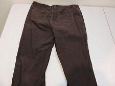 Lauren Jeans Co. Cotton Blend Brown Corduroy Straight Leg Pants - Size - 12