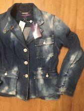 Ralph Lauren Purple Label Collection Safari Denim Jacket Size 8 RRP £1250