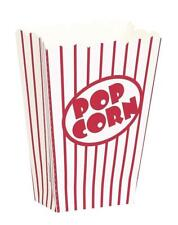 8 Popcorn Boxes Movie Hollywood Birthday Party Cinema Treats Paper Bags Fun