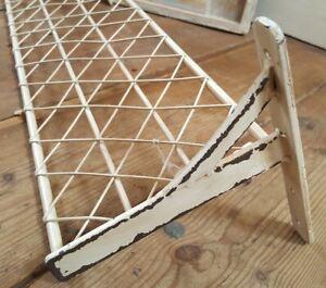 New CREAM Shabby Chic French Vintage Metal Wire Shelf Kitchen Storage Wall Rack