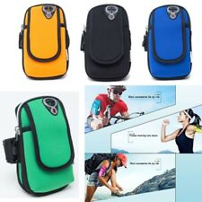 Universal Sport Running Riding Arm Band Case For Cell Phone Holder Zipper Bag US