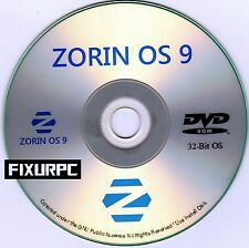 "ZORIN OS 9 in 32 bit, Replace Windows XP or Windows 7, Vista, has ""START BUTTON"""