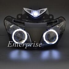 Projector Headlight Assembly White Angel Eye HID for Honda CBR500R 500R 13-15