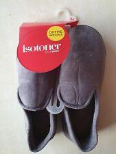 Charentaises grises Isotoner neufs taille 44 étiqueté à 18€