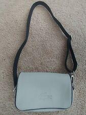 Lacoste Women's Gray PVC Canvas Signature Shoulder/Cross Body Bag