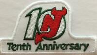New Jersey Devils 10th Anniversary Jersey Patch