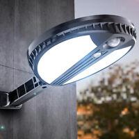 Lumière de rue solaire LED étanche lampe de mur PIR capteur sans fil Super