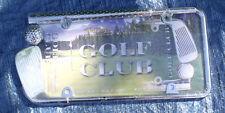 "Golf Club Novelty Chrome License Plate Frame-États-Unis 12 X 6"" fit for Cars & Trucks"