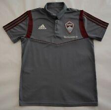 Colorado Rapids Polo Shirt - Men's Medium - adidas Climalite - MLS Soccer