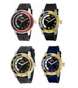 Invicta Men's Specialty 45MM Stainless Steel Case Black Silicone Band Watch