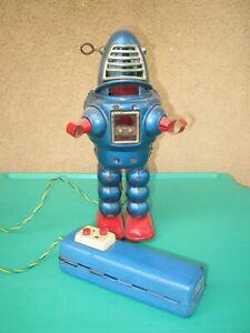planet robot tin toy original japan battery