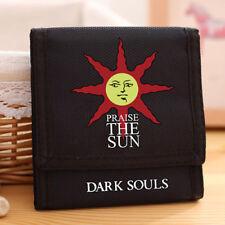 Dark Souls III Praise the sun Logo Black Oxford Short Wallet 4.33*4.52''