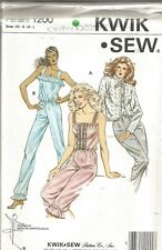 Misses Sleepwear Pattern, Kwik Sew, Siz XS-L, UC, FF, Jumpsuit, Jacket