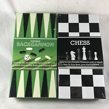 Portable Backgammon & Chess Game Sets New w How-to-Play Books 2012-2013 Parragon
