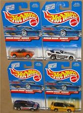 SUGAR RUSH SERIES, 1998 Hot Wheels COMPLETE 4 CAR SET, 1:64, New on Cards!