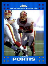 2007 Topps Chrome Blue Refractor #TC128 Clinton Portis Redskins (ref 33852)