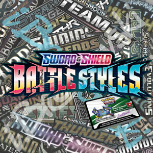 50x Pokémon Sword Shield Battle Styles Online Booster Codes PTCGO Sent ASAP