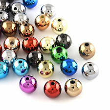 25 Shiny Finish Acrylic Beads Assorted Colors with Shades of Blue, Red - Bd1109