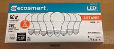 (8 Pack) 60 Watt = 9W A19 LED Soft White Light Bulbs ~ Ins + Tracking # Included