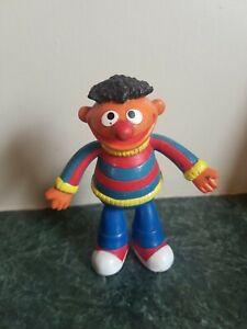"Vintage ERNIE Sesame Street PVC Toy Applause Oversize 4"" Figure Jim Henson"