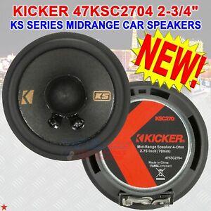 """KICKER 47KSC2704 2.75"""" MID RANGE MID/TWEETER SPEAKERS 100 WATTS PEAK POWER PAIR"""