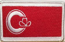 CALGARY Tactical Flag Iron-On Patch Alberta Province Canada Emblem White Border