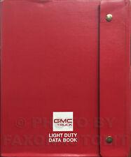 1992 GMC Data Book Dealer Album Typhoon Syclone Sierra Sonoma Van Jimmy Yukon Et