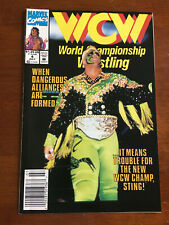WCW WORLD CHAMPIONSHIP WRESTLING # 4 FINE MARVEL COMICS 1992 NEWSSTAND STING