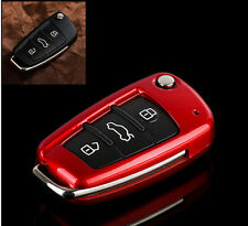 Metallic Paint Red Auto Key Cover Holder For Audi Q7 A3 A4 A6 TT Remote Key Fob