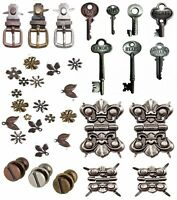 TIM HOLTZ IDEA OLOGY ADORNMENTS CHOICE of FASTENERS CLIPS STUDS HINGES KEYS