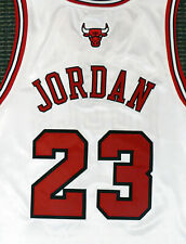 Michael Jordan Authentic Adidas Bulls White Jersey New With Tags NWT 48 177531