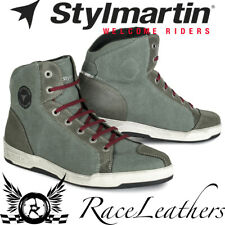 STYLMARTIN ARIZONA GREEN CASUAL URBAN BREATHABLE BOOTS SNEAKERS MOTORCYCLE